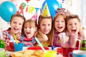Children on a birthday party