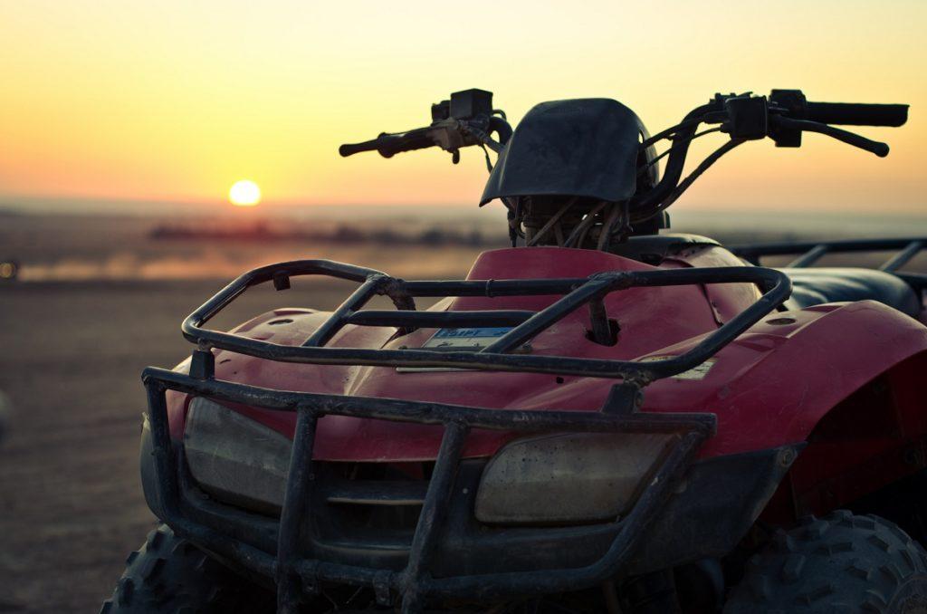 ATV photo during sunset