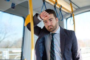 Businessman in a railway transit