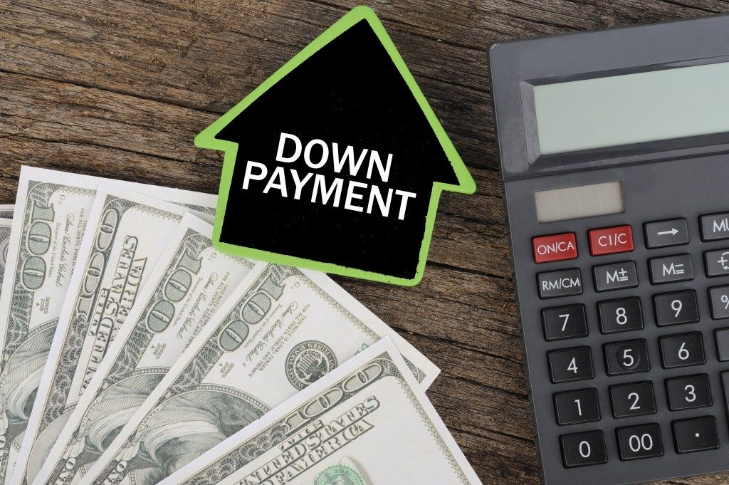 down payment on real estate
