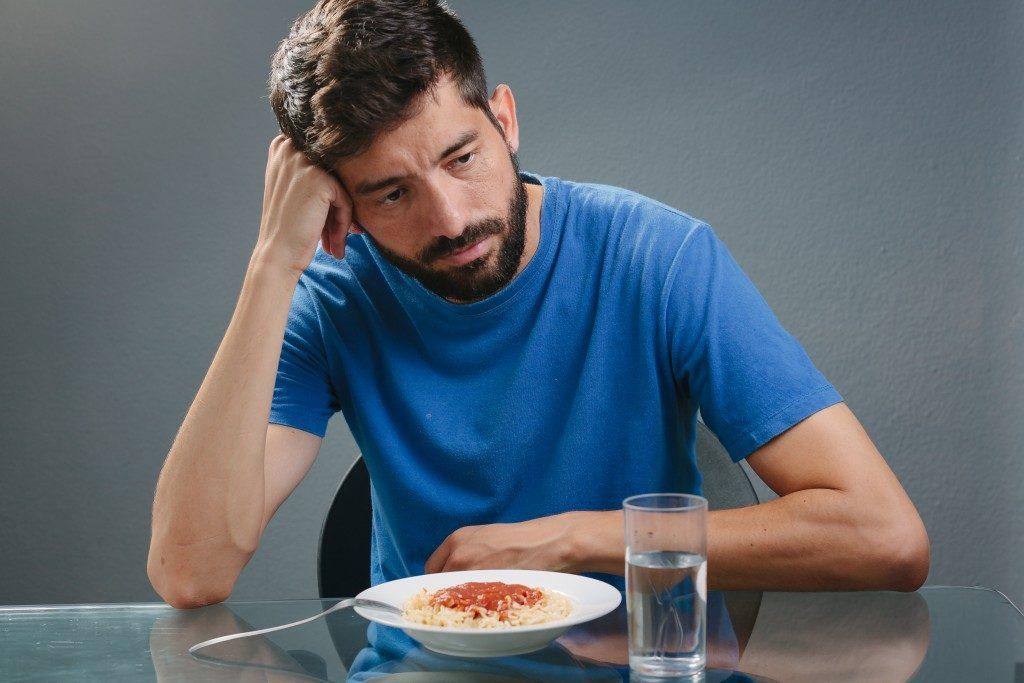 Man no appetite