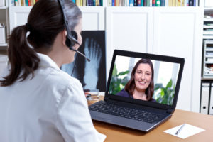 talking using video chat